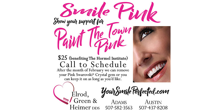 Smile Pink for Paint The Town Pink